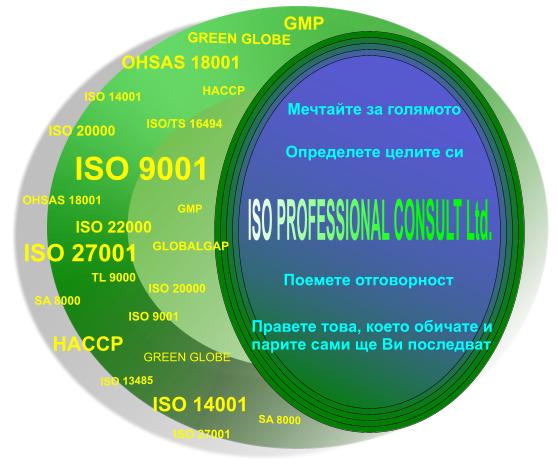 Стандарти и системи за управление, консултации по ИСО